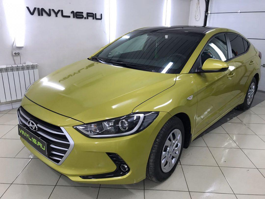 Комплексное бронирование кузова антигравийной плёнкой и целый перечень работ — Hyundai Elantra