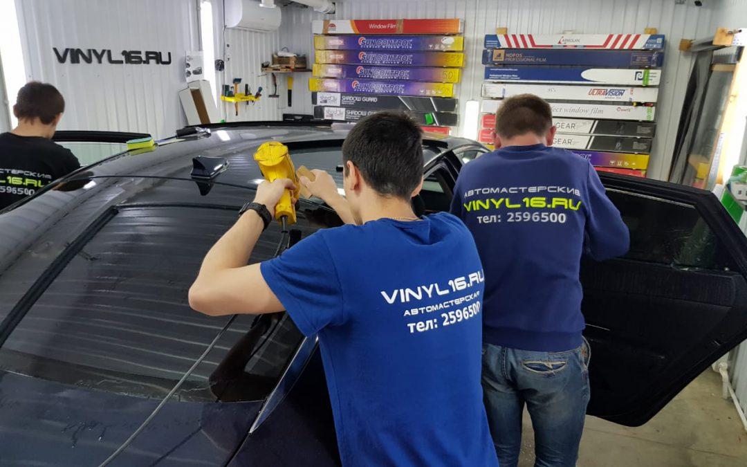 Тонировка стёкол плёнкой Johnson 95% автомобиль — Kia Optima