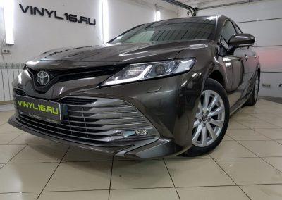 Комплексное бронирование кузова полиуретановой плёнкой Hexis Bodyfence и тонировка стекол — Toyota Camry