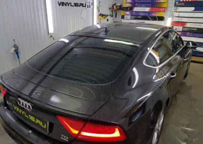Тонировка всех стёкол плёнкой SunControl 65% — автомобиль Audi A7