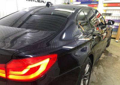 Тонировка стекол автомобиля BMW 5 серии пленкой NDFOS 95%