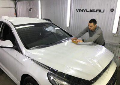 Комплексное бронирование антигравийной плёнкой и Тонировка задней полусферы плёнкой LLumar 95% — Hyundai Sonata !