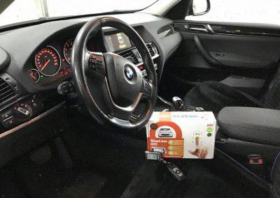 Установка автосигнализации с дистанционным запуском двигателя Starline A93 GSM/GPS на BMW X3