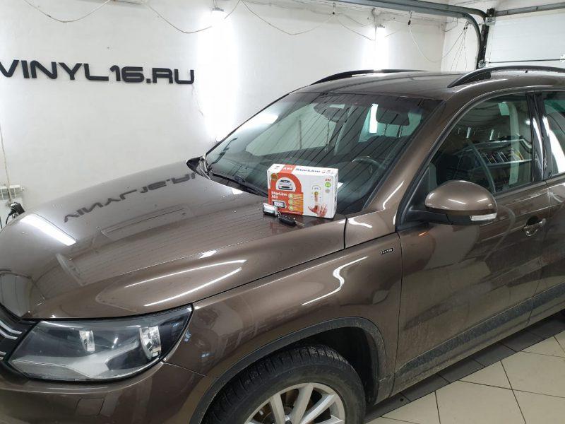 Установка сигнализации Starline A93 с автозапуском и обратной связью — Volkswagen Tiguan
