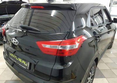 Тонировка задней части пленкой LLumar 95% на новеньком Hyundai Creta