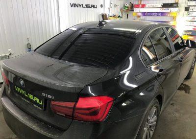 Тонировка задней части плёнкой Utra Vision 95% и тонировка передних стёкол плёнкой Ultra Vision 50% — автомобиль BMW 3 серии