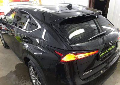 Тонировка задней части авто плёнкой Luxman 95% — автомобиль Lexus NX200
