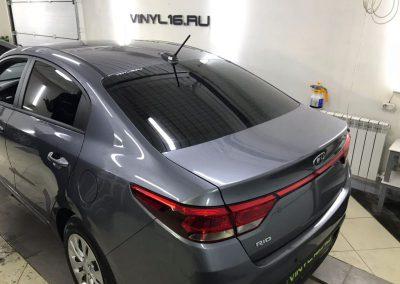 Затонировали заднюю часть плёнкой SunTek 95% на автомобиле Kia Rio
