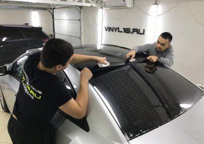 Оклеили крышу в чёрную глянцевую пленку KPMF premium — Chevrolet Cruze