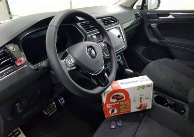 Авторская установка охранно телематического комплекса StarLine S96 2Can2Lin GSM — Volkswagen Tiguan