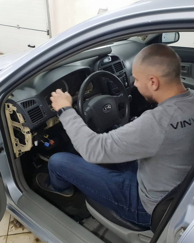 Установка автосигнализации Starline A93 Эко — Kia Cerato