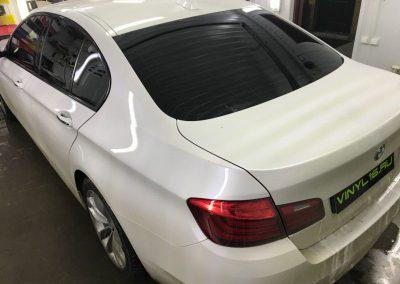 Затонировали заднюю часть плёнкой UltraVision 95%, Тонировка передних стёкол плёнкой UltraVision 80% — автомобиль BMW 5 серии