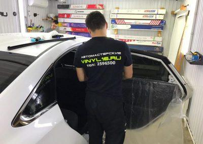 Бронирование капота антигравийной плёнкой, затонировали заднюю часть плёнкой NDFOS 95% — Hyundai Sonata