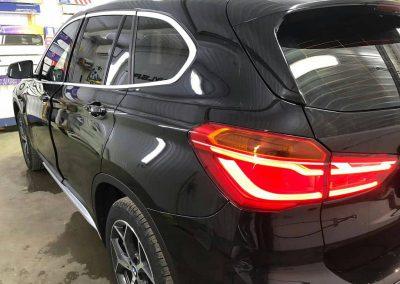 Затонировали заднюю часть плёнкой SunTek 95% на автомобиле BMW