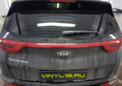 Затонировали заднюю часть плёнкой UltraVision 95% — автомобиль Kia Sportage