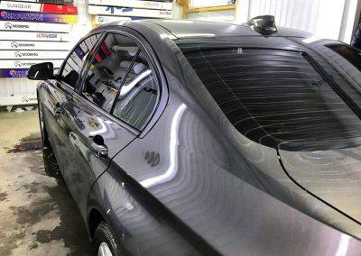 Затонировали заднюю часть плёнкой Johnson 95% и передние стёкла плёнкой Johnson 85% — BMW 3