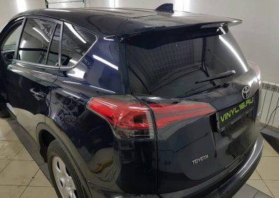 Установка автосигнализации Starline A93 2can2lin , тонировка задней полусферы плёнкой LLumar 95 — автомобиль Toyota RAV4