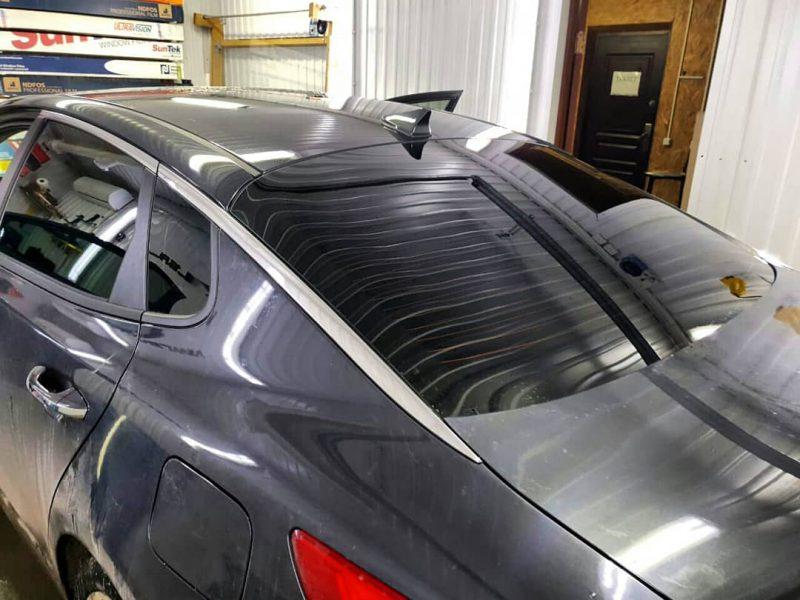 Тонировка задних стекол плёнкой SunTek 95% — автомобиль Kia Optima