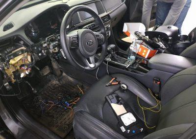 Авторская установка охранно телематического комплекса StarLine S96 2Can2Lin GSM — Kia Optima