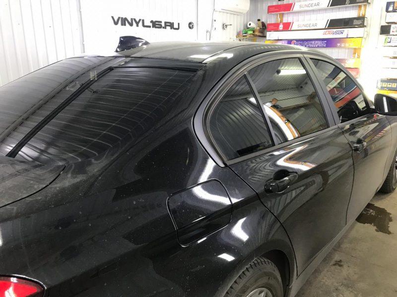 Затонировали заднюю часть и 2 передних стекла плёнкой ShadowGuard 95% — автомобиль BMW 3