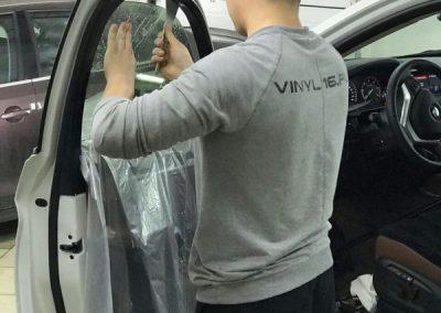 Затонировали заднюю часть плёнкой LLumar 95% и Тонировка передних стекол пленкой LLumar 50%- автомобиль BMW X6