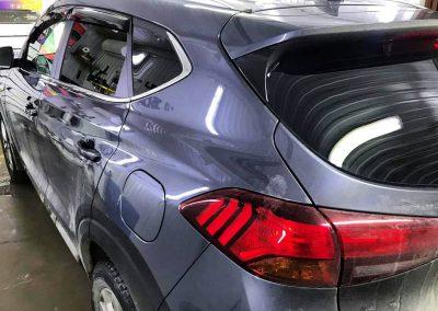 Затонировали заднюю часть плёнкой Ultra Vision 95% — автомобиль Hyundai Tucson
