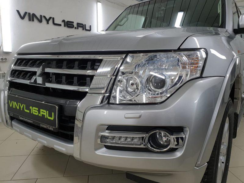 Шикарный внедорожник получил мощную и надежную защиту полиуретановой плёнкой Hexis Bodyfence — Mitsubishi Pajero
