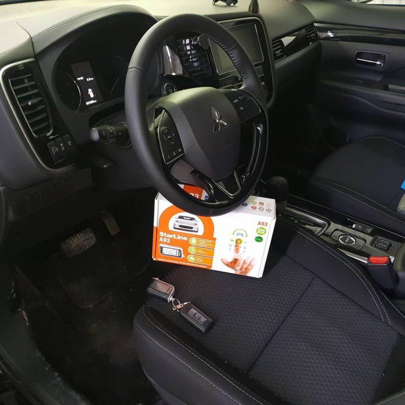 Установили автосигнализацию Starline A93 на Mitsubishi Outlander