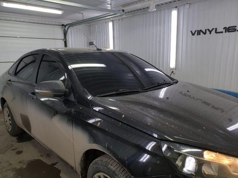Тонируем автомобиль Lada Vesta плёнкой NDFOS 95%