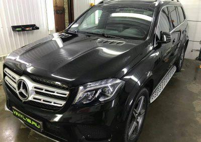 Бронирование передний части полиуретановой плёнкой Hexis Bodyfence — Mercedes-Benz GL