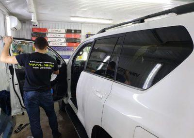 Тонируем автомобиль Toyota плёнкой UltraVision 95% & UltraVision 50%, плёнка премиум класса с очень хороший видимостью и с неограниченном сроком эксплуатации