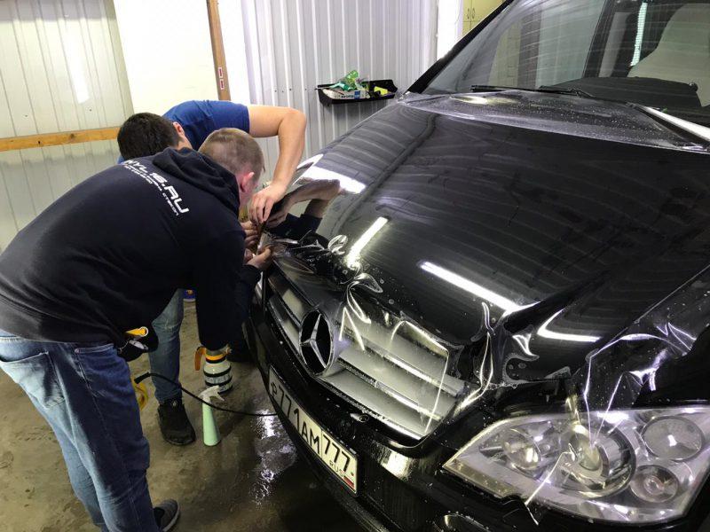 Комплексное бронирование полиуретановой плёнкой Hexis Bodyfence — автомобиль Mercedes