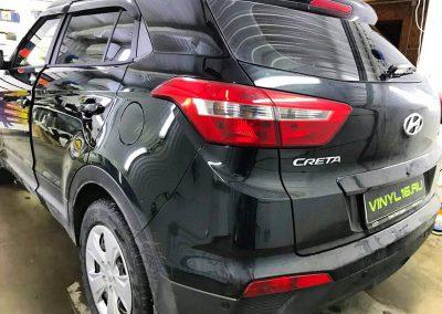 Затонировали заднюю часть и 2 передних стекла плёнкой ShadowGuard 95% & 50% — автомобиль Hyundai Creta