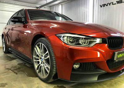 Затонировали заднюю полусферу металлизированной плёнкой премиум класса с отличной видимостью NDFOS 95% — BMW 3 серии