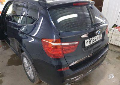 Автомобиль BMW X3 затонирован металлизированной плёнкой с отличной видимостью #ShadowGuard 95%