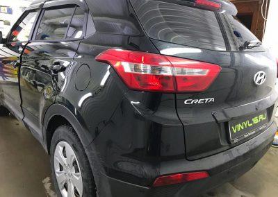 Затонировали заднюю полусферу металлизированной плёнкой премиум класса с отличной видимостью UltraVision 95% — автомобиль Hyundai Creta
