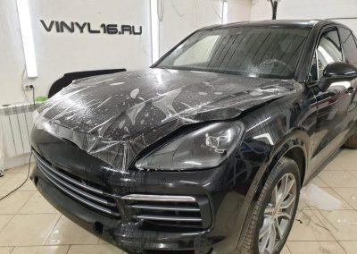 Забронировали шикарный автомобиль полиуретановой плёнкой Hexis Bodyfence — Porsche Cayenne