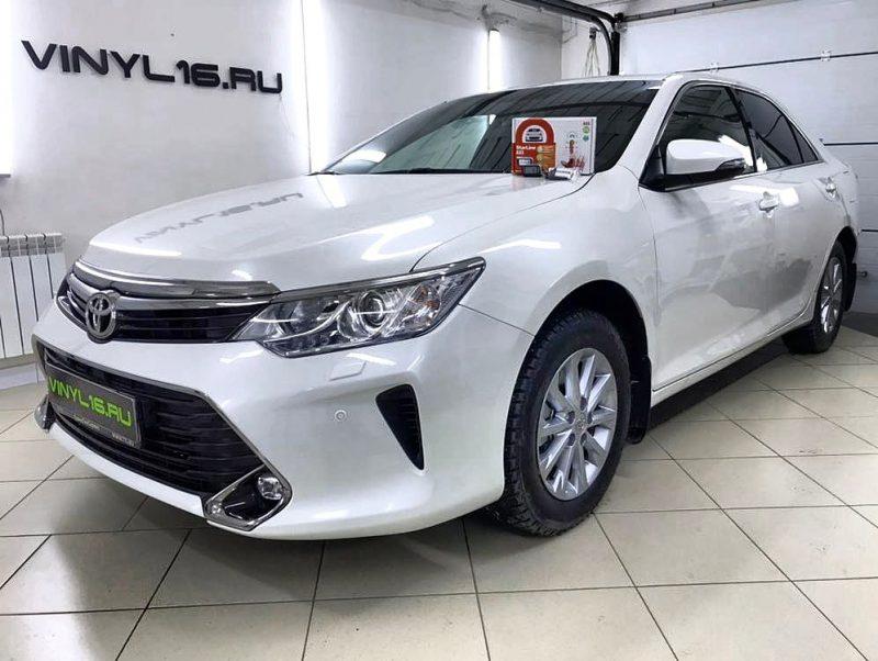 Установили охранный комплекс StraLine A93 2can2lin GSM/GPS и забронировали кузов полиуретановой плёнкой Hexis Bodyfence  — Toyota Camry