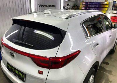 Затонировали заднюю полусферу плёнкой премиум класса с отличной видимостью LLumar 95% — автомобиль Kia Sportage