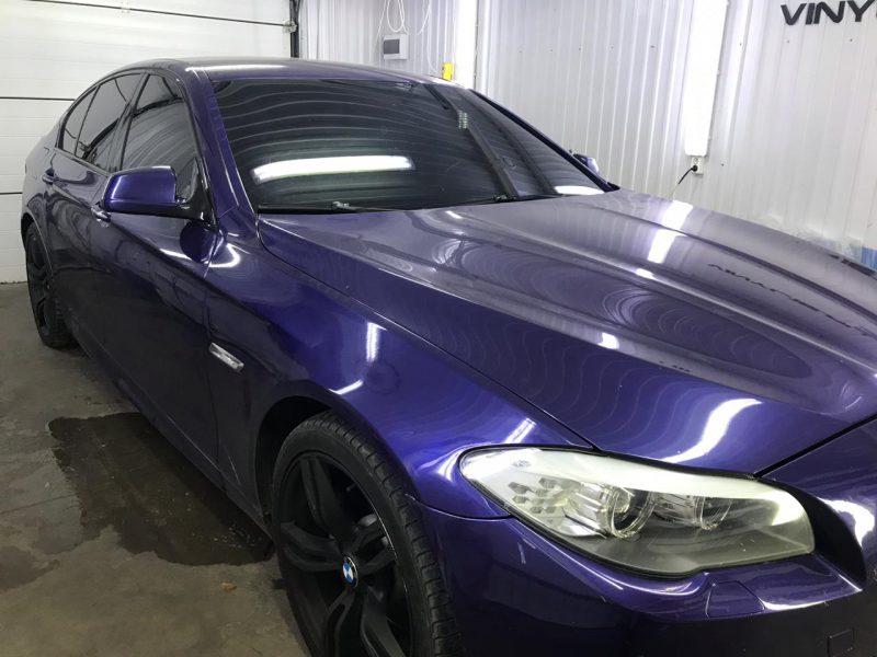 Затонировали заднюю полусферу и 2 передних стекла пленкой Shadow Guard 95% — автомобиль BMW 5