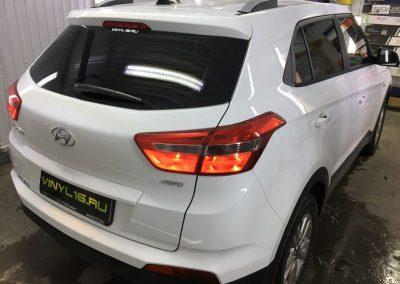 Затонировали заднюю полусферу плёнкой премиум класса с отличной видимостью UltraVision автомобиль Hyundai Creta