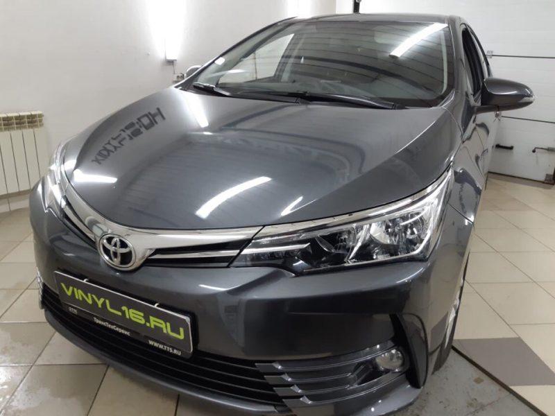 Тонировка передних стёкол плёнкой Armolan 20%, тонировка задних стекол SunTek 95% — Toyota Corolla