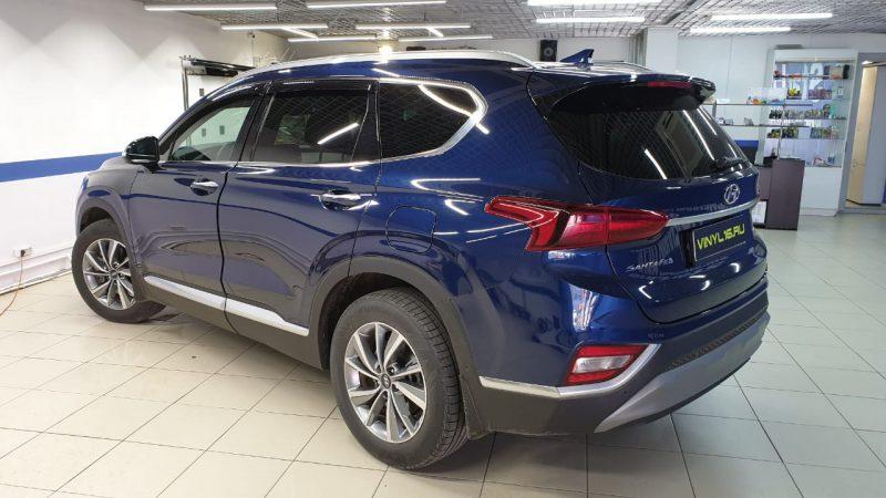 Hyundai Santa Fe — тонировка стекол пленкой Shadow Guard