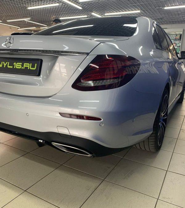 Бронирование передних фар и задних фонарей полиуретановой пленкой с эффектом затемнения Stek — Mercedes-Benz C-класс