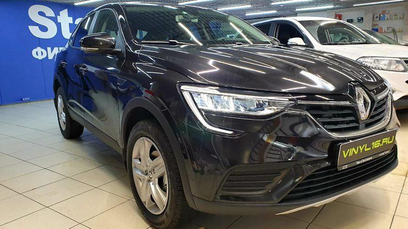Renault Arkana — бронирование ПВХ пленкой капота, зон под ручками и окантовок дверей, тонировка пленкой Carbon