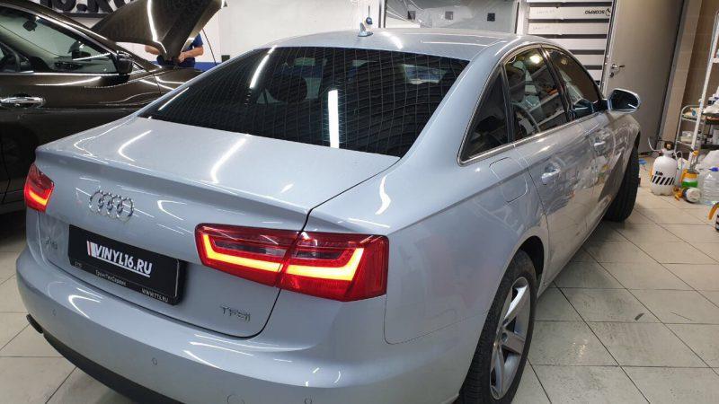 Затонировали Audi A6 по кругу плёнкой Shadow Guard 50% светопропускаемости