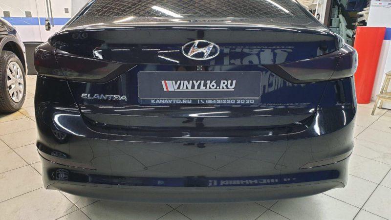 Тонировка фонарей Hyundai Elantra плёнкой ORACAL 8300 — 2 в 1: стильный и эффектный внешний вид + защита от скол и царапин