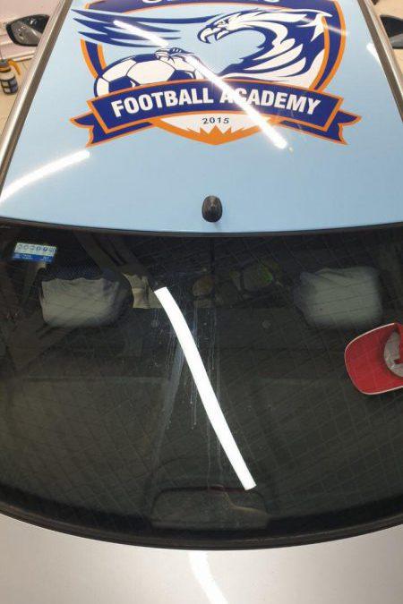 Брендирование автомобиля Hyundai Solaris для Футбольной Академии