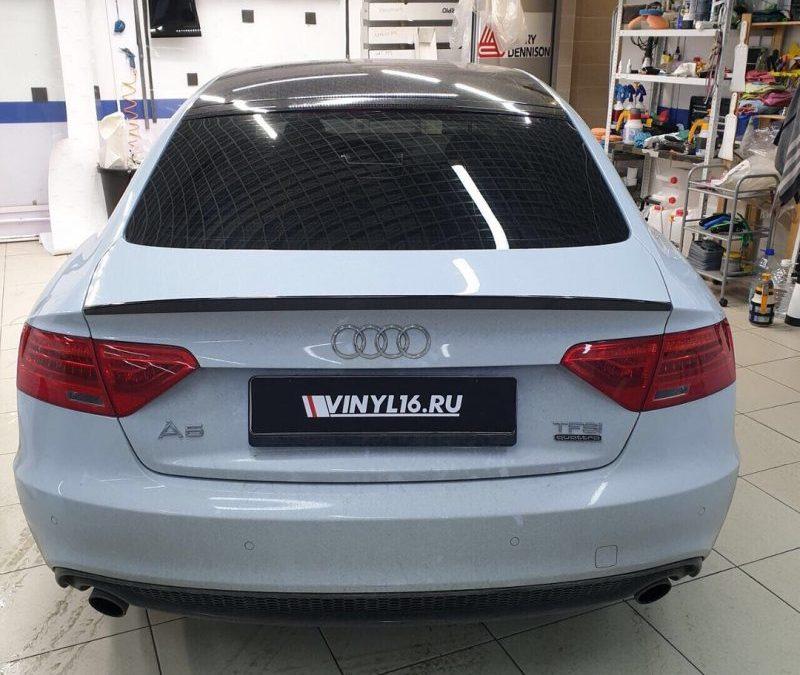 Затонировали заднюю полусферу Audi A5 пленкой премиум класса Johnson 95% затемнения!