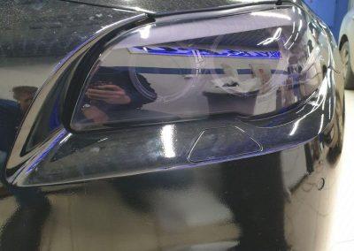 BMW 5 серии — бронирование фар полиуретановой пленкой с эффектом затемнения Stek
